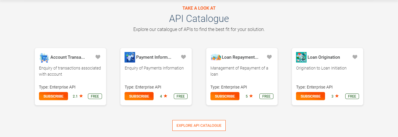 Explore APIs from Home page